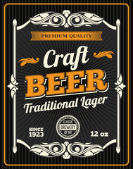 Vector craft beer premium quality poster