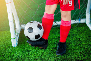 Soccer player Bounce the ball