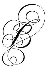 Calligraphy Alphabet Letter B