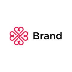 Geometric Heart Logo