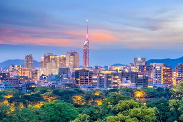 Fotomurales - Fukuoka city skyline in Japan