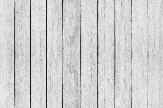 Wood texture background, white wood planks. Grunge washed wooden wall pattern