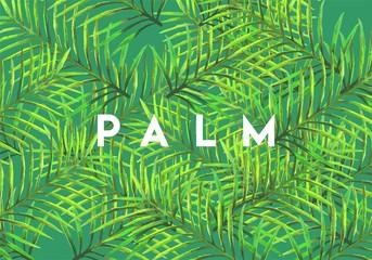 Spoed Fotobehang Tropische Bladeren Tropical palm leaves