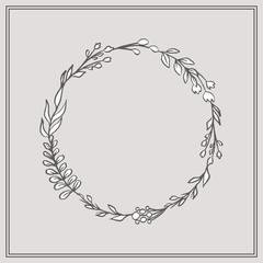 Doodle Floral Wreath