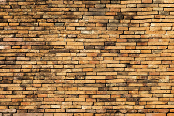 Abstract old ancient brick wall pattern background, vintage style background, construction concept