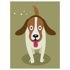 adorable little puppy dog mascot cartoon character
