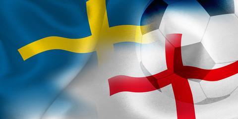 スウェーデン イングランド 国旗 サッカー