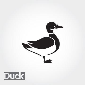duck, goose, swan art logo