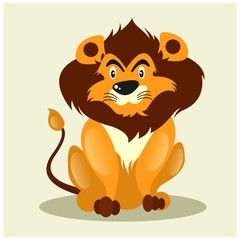 adorable lion king leo zodiac mascot cartoon character