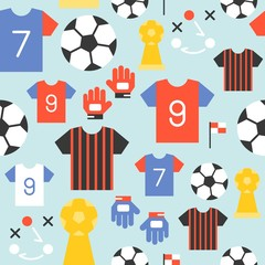 Seamless pattern soccer theme, for use as background or wallpaper and wrapping paper gift