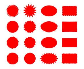 Star price red stickers set