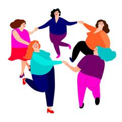 Funny ladies dance