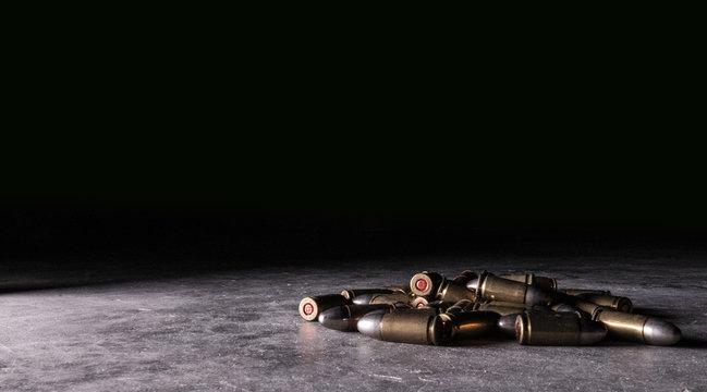 9mm Luger Ammo Bullet Cartridge Pile 2