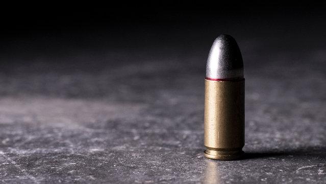 Single Isolated Handgun Bullet 3