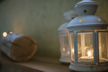 White Decorative Candle Lamp
