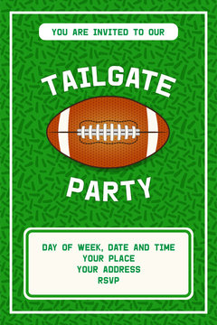 American football tailgate party flyer design