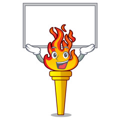 Up board torch character cartoon style