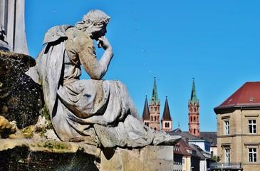 Photo sur Plexiglas Commemoratif Walther von der Vogelweide, Würzburg