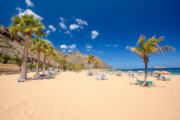 Photo sur Aluminium Iles Canaries Teresitas beach near San Andres,Tenerife,Spain