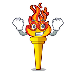 Super hero torch character cartoon style