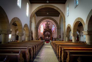 Intérieur de l'église de Carling en Moselle