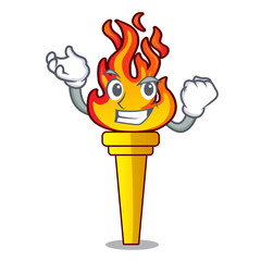 Successful torch character cartoon style