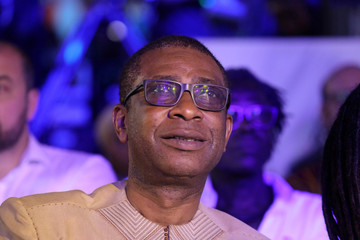 Senegalese singer Youssou N'Dour watches a live show at the Afrika Shrine in Lagos