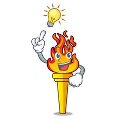 Have an idea torch mascot cartoon style