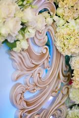 Three-dimensional decoration close - up