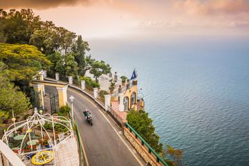 Ausblick von Hotel San Michele in Anacapri in sonnigen Frühling