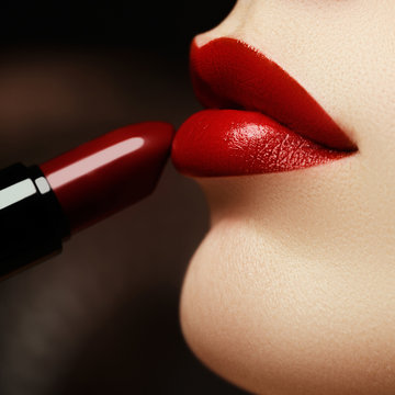 Beauty lips. Beautiful lips close-up, great idea for the adverti