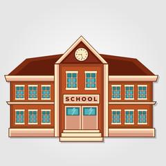 School building. Flat style vector illustration