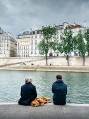 Bord de Seine en famille