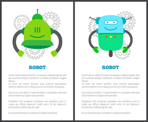 Robot Humanoids Collection Vector Illustration