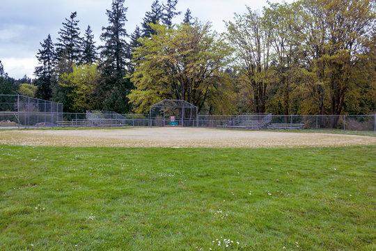 baseball diamond at park