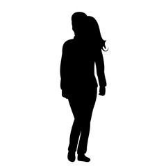 silhouette girl standing