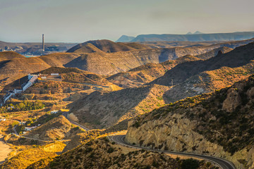 Panoramic view on the mountain, Almeria, Andalusia
