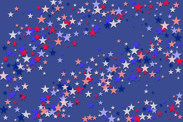 Red blue stars American patriotic background