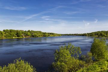 Volkhov river in Leningrad region, Russia