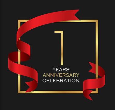 1st years anniversary celebration background