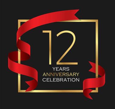 12th years anniversary celebration background
