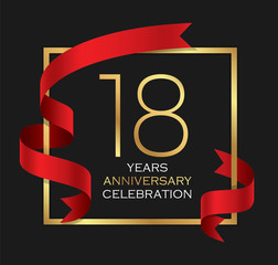 18th years anniversary celebration background