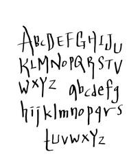 Handwritten calligraphy alphabet