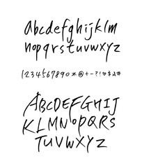 Handwritten calligraphy alphabet
