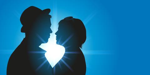 amoureux - jeune - amour - aimer - séduction - couple - romantique - coucher de soleil - baiser