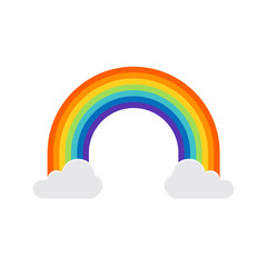 Rainbow icon isolated on white background. Rainbow cartoon. Vector stock.