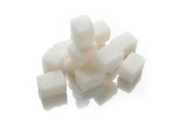 White sugar cubes, carbohydrates.