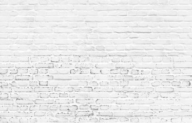 White beautiful painted brick wall background