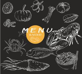 restaurant menu brochure. Food design template