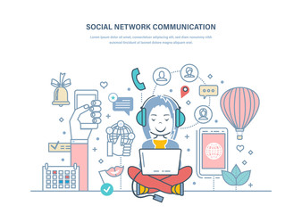 Social media communication. Work with media and planning, digital marketing.